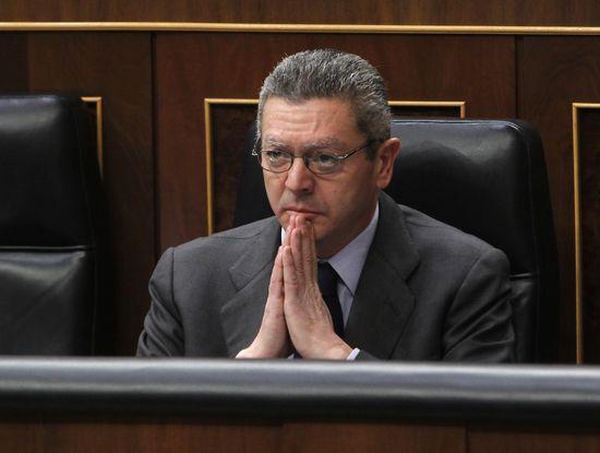 Alberto Ruiz-Gallardón en el Congreso / ULY MARTÍN