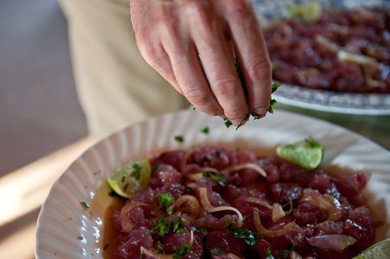 Cebiche bonito salsa soja