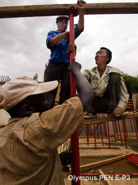 Sudan trabajadores obra