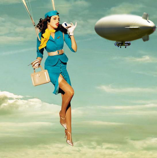 Zeeppelin stewardess
