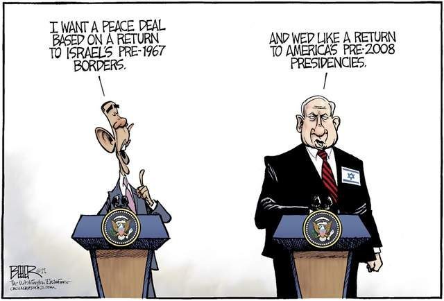 Obama-netanyahu cartoon