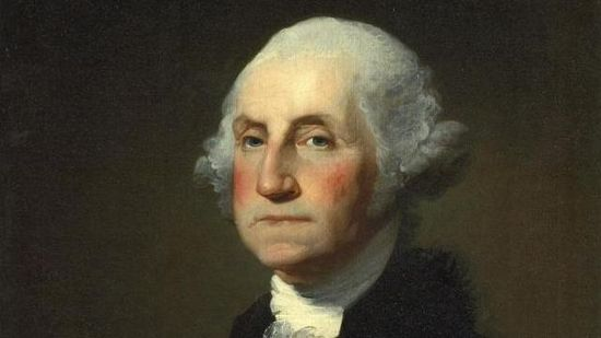 Retrato de George Washington, el primer presidente de Estados Unidos.
