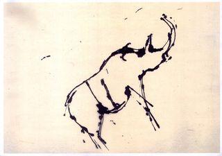 Dibujo de john berger.cueva de chauver1