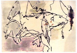Dibujo de john berger.cueva de chauvet2