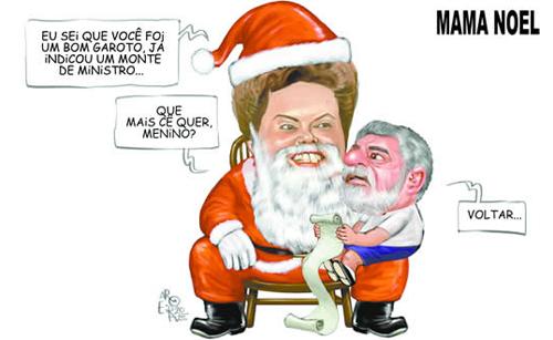 Viñeta de Dilma y Lula