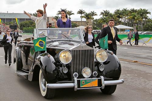 Dilma en su toma de posesión