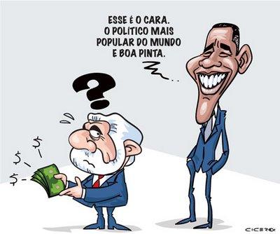 Viñeta de Lula y Obama