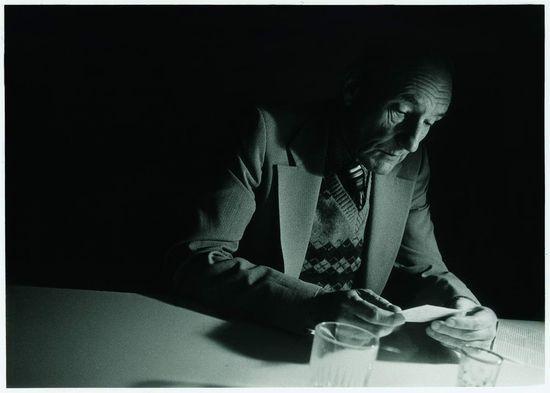 """""""William S. Burroughs at Brion Gysin's, Paris"""", October 1979 - photo © Udo Breger"""