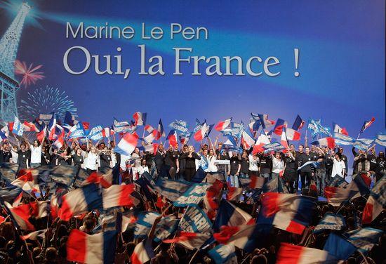 Un mitin de Marine Le Pen