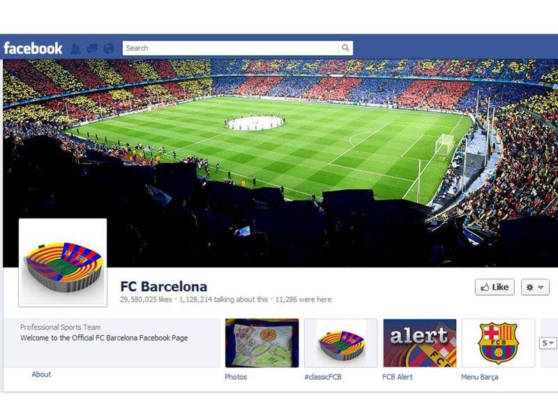 Barcelona profile en facebook