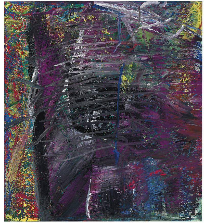 2557-49 Gerhard Richter - Abstraktes Bild Violett 1986