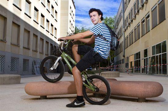 Ioannes en su BMX. @bikeMad8