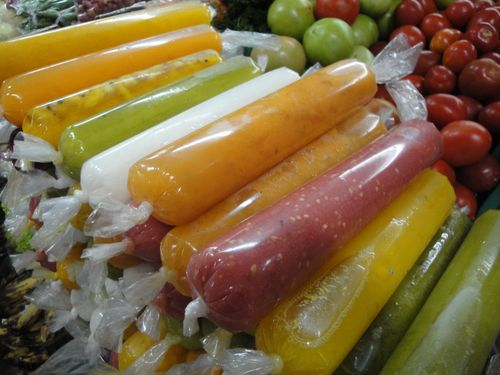 Purés de frutas variadas