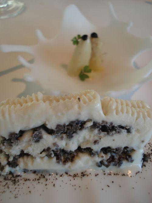 Comtessa de espárragos blancos con trufa y ensalada de espárragos