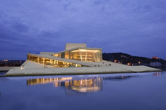 La Ópera de Oslo, obra del estudio de arquitectura Snohetta.