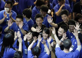 Empleados de Apple en China