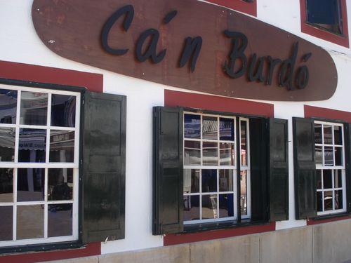 Fachada del restaurante Can Burdó