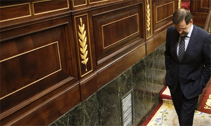 El presidente del Gobierno se saltó el debate de los recortes y sólo acudió al Congreso para votar