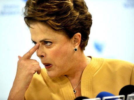 Dilma irritada
