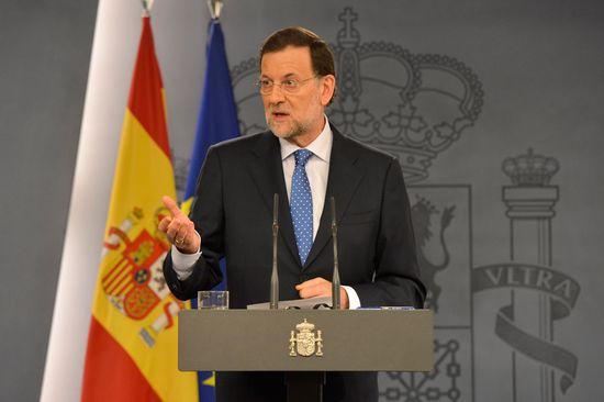 El presidente del Gobierno, Mariano Rajoy, durante la rueda de prensa ofrecida para hacer el balance del curso político.