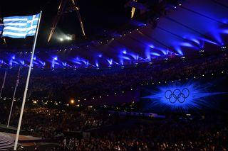 Bandera griega Olympics