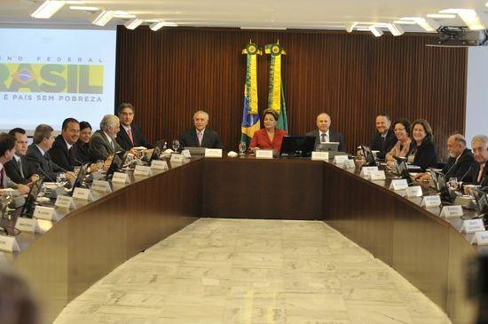 Dilma con los gobernadores y gobierno