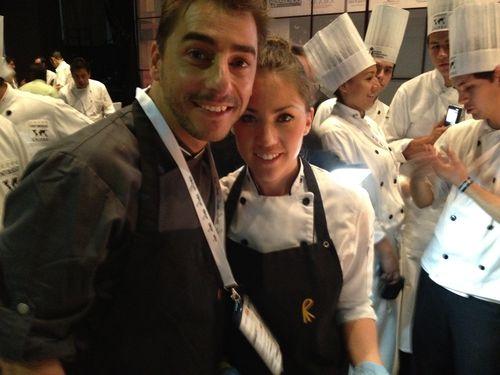 Jordi Roca y Alejandra Rivas (también pastelera)