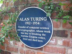Placa en la casa de Alan Turing (Wilmslow, Cheshire)