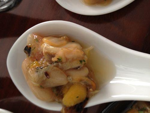 Ceviche de pepitas de mar