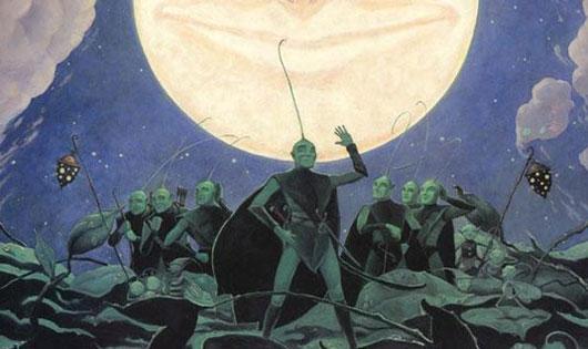 Ilustración de la portada del libro 'Los hombres hoja', de William Joyce