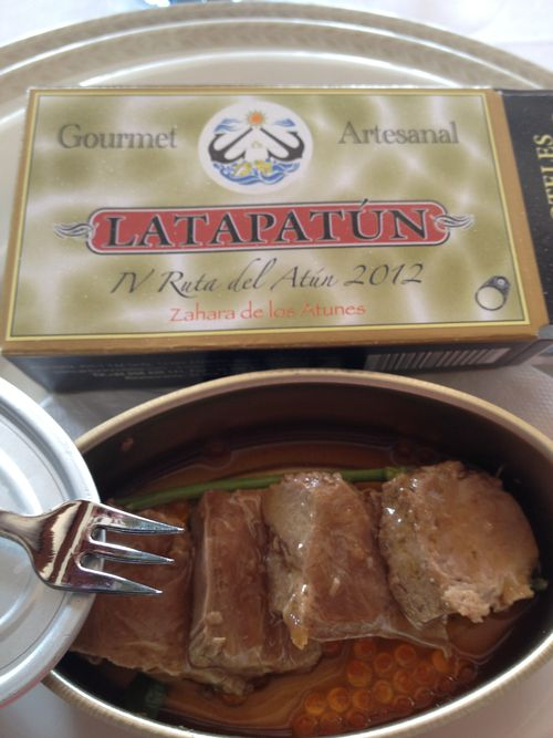 La Tapatún, receta ganadora del concurso IV Ruta del Atún. Creada en restaurante Antonio, Zahara