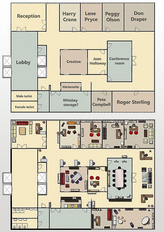 Planos de edificios de serie quinta temporada blogs for Distribucion de oficinas en una empresa