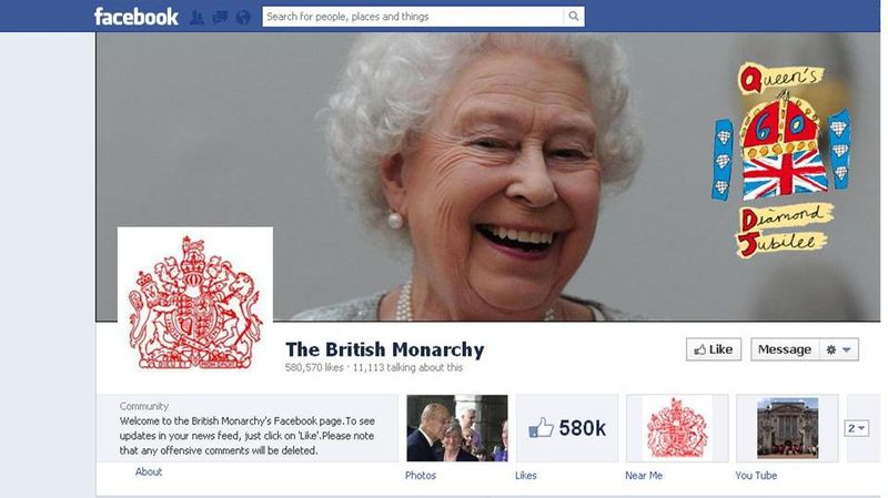 Facebook british monarchy
