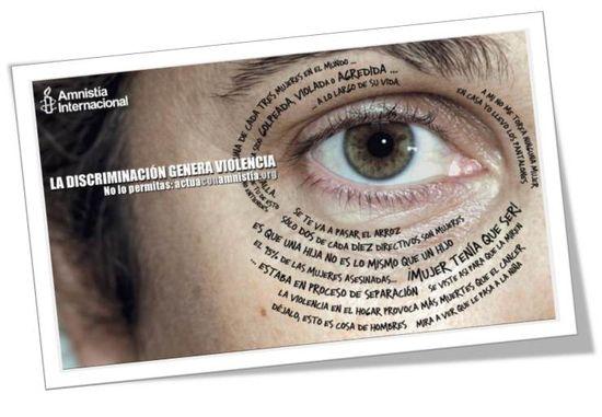 Amnistía Internacional. La discriminación genera violencia