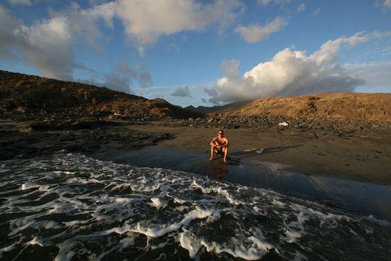 Cala en la punta de Jandía, entre Morro Jable y el faro, al sur de Fuerteventura Santi Burgos