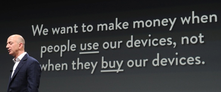 Bezos + Kindle