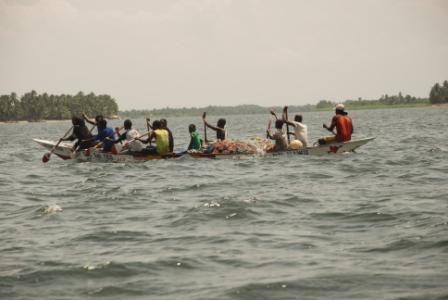 Pescadores en el Volta