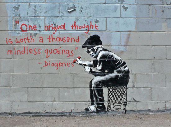 Original thought (Banksy)