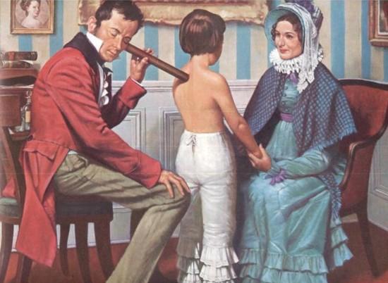 Laennec y el estetoscopio