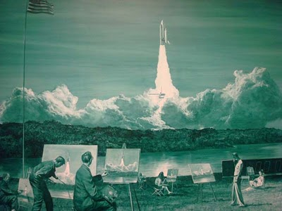 Mark Tansey Action Painting II 1984