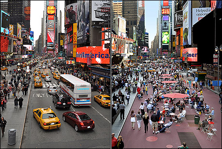 Peatonalización de Times Square.