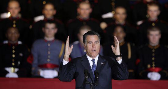 Mitt Romney durante un acto de campaña.