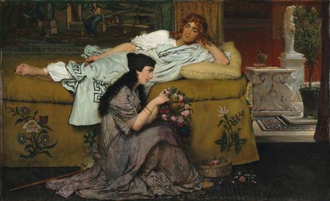 POMPEYA.getty.Lawrence Alma Tadema.Glauco y Nidia.1867
