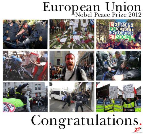 Nobel de la paz a la UE