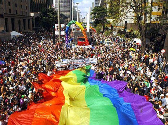 Marcha gay en São Paulo
