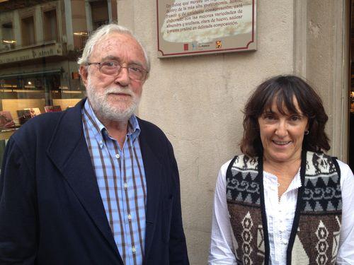 Vicente y Lourdes Ascaso, padre e hija, propietarios de la pastelería Ascaso, en Huesca