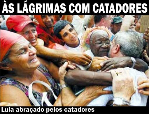 Lula con recogedores de basura