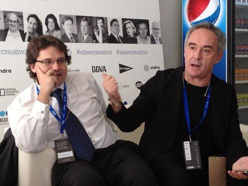 Ferran Adrià y José Miguel Mulet en la sala de ponentes de El Ser Creativo
