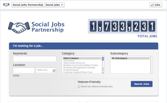Social jobs Facebook