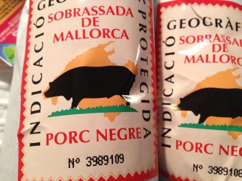 Etiqueta de la sobrasada de cerdo negro